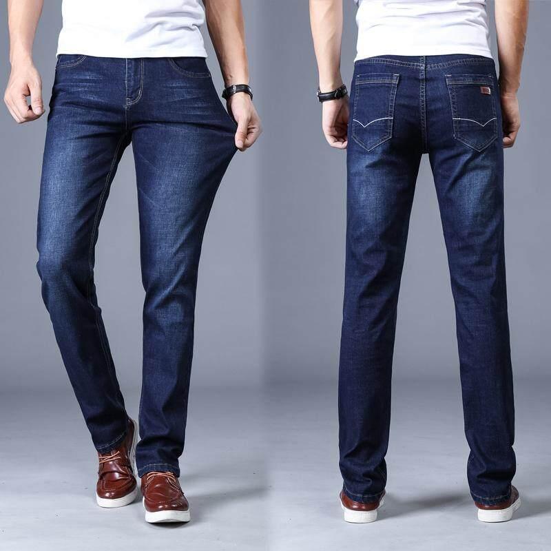 vente en magasin obtenir pas cher grande remise de 2019 Men'S Skinny Jeans Brand Male Jeans For Men Straight Pantalon Homme Jean  Slim Distressed Design Biker Pants Fit Black Regular