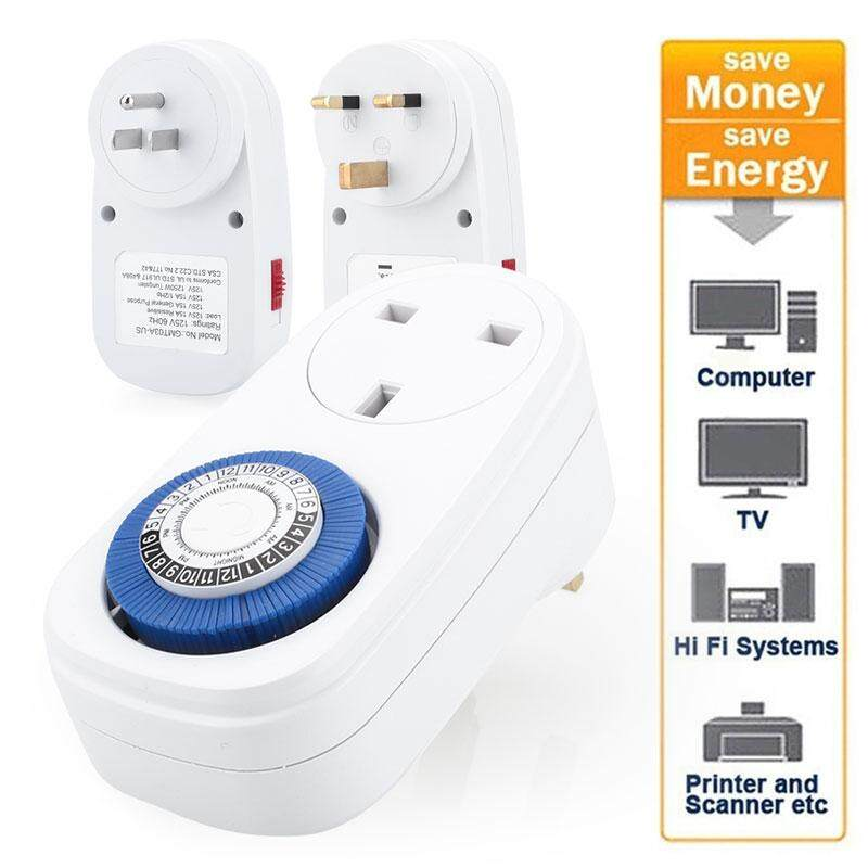 Triumphant 24 Hours Programmable Timer Socket Intelligent Smart Timer  Mechanical Plug Switch UK/US Programmable 12/24 Hours Countdown Home  Security