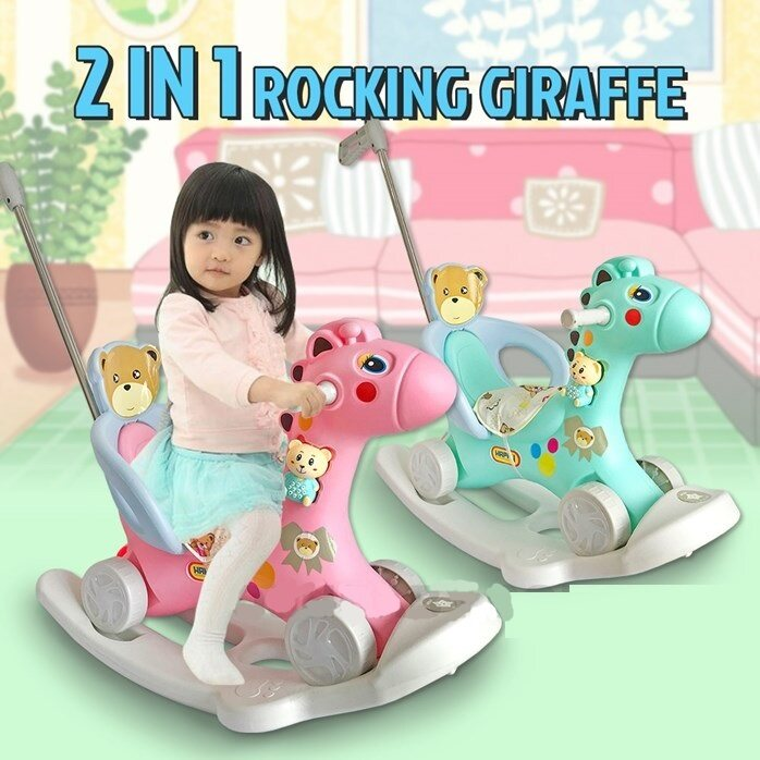 Rocking Horse Ride On Toys Game For Infant Toddler Kids Indoor Outdoor Play Gift