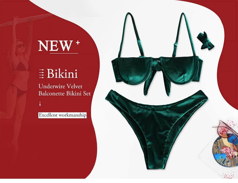 777ef0f91b47 Product details of ZAFUL Brand Balconette Underwire Velvet Bikini Set Sexy  Swimwear Women Bikini bra Swimwear female two pieces swimsuit bathing suit  ...