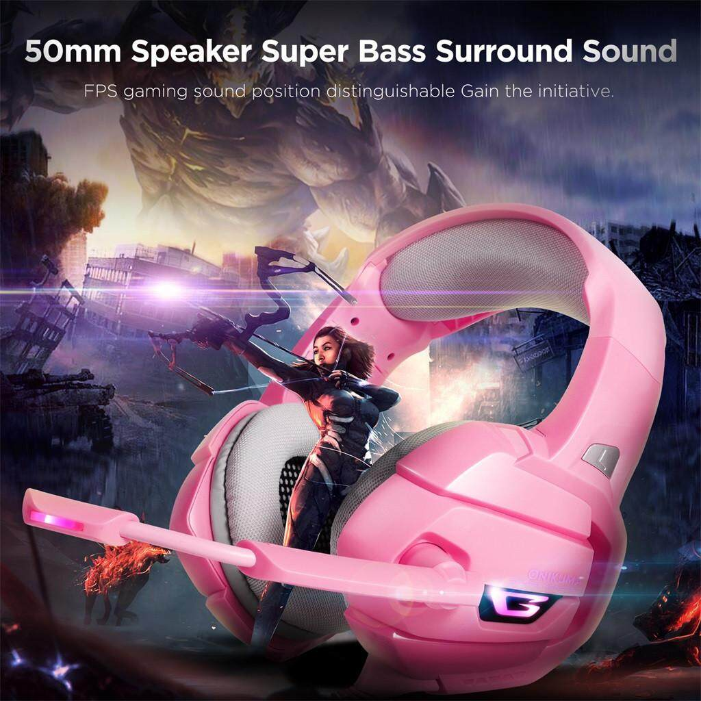 JY ONIKUMA K5 Gaming Headset LED Headphones With Mic Microphone For PS4 PC  Game