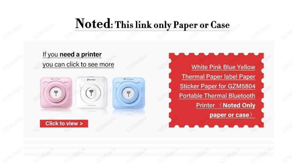 57x30mm Heat-sensitive Paper Thermal photo receive Paper Sticker
