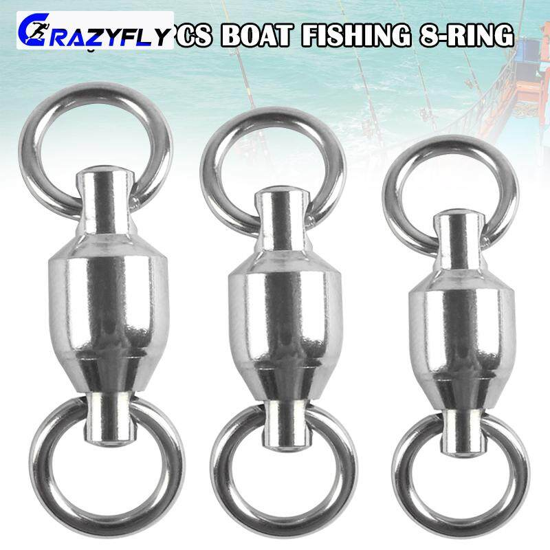 50//100 X Strong Stainless Steel Split Rings Connectors fishing Lures BaitsHGUK