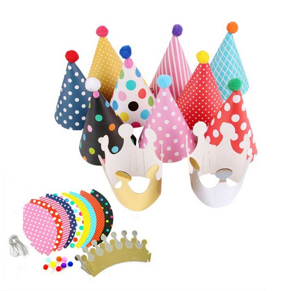 Dragonpad 11pcs Set Cartoon Party Hats Fun Cone Birthday Party Crown Hats For Children Pets Adults Lazada A wide variety of party cartoon hat options are available to you. lazada