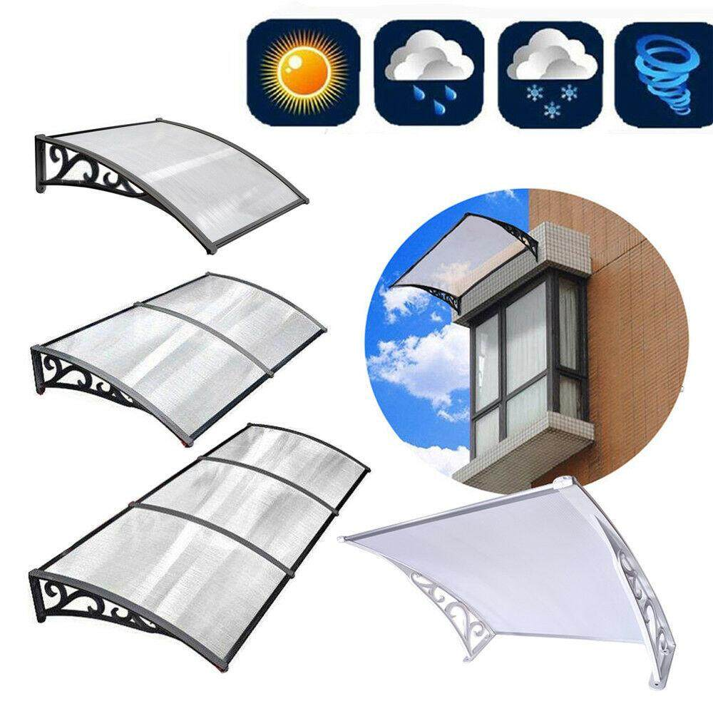 superior quality 4fbfc 4ba3a ANIAN Awning 120*75 Door Canopy Awning Shelter Window Cover Front Back  Porch Outdoor Shade Patio Roof