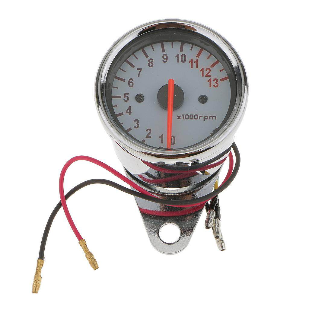 Homyl 62MM LED Digital Voltmeter Voltage Tachometer RPM Gauge 2 in 1 Guage Meter