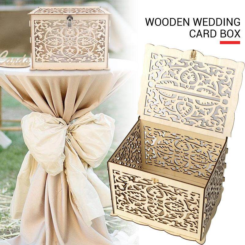 Wedding Money Box Wedding Card Box Wooden Wedding Box With Lock Wooden Storage Box Diy Rustic Wedding
