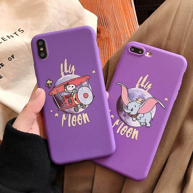 Cute Cartoon Dumbo elephant Snoopy Plane Phone Case for iPhone 6 6S 7 8  Plus Case Soft TPU Back Cover Case for iPhone X XS MAX XR 7Plus,2 Styles