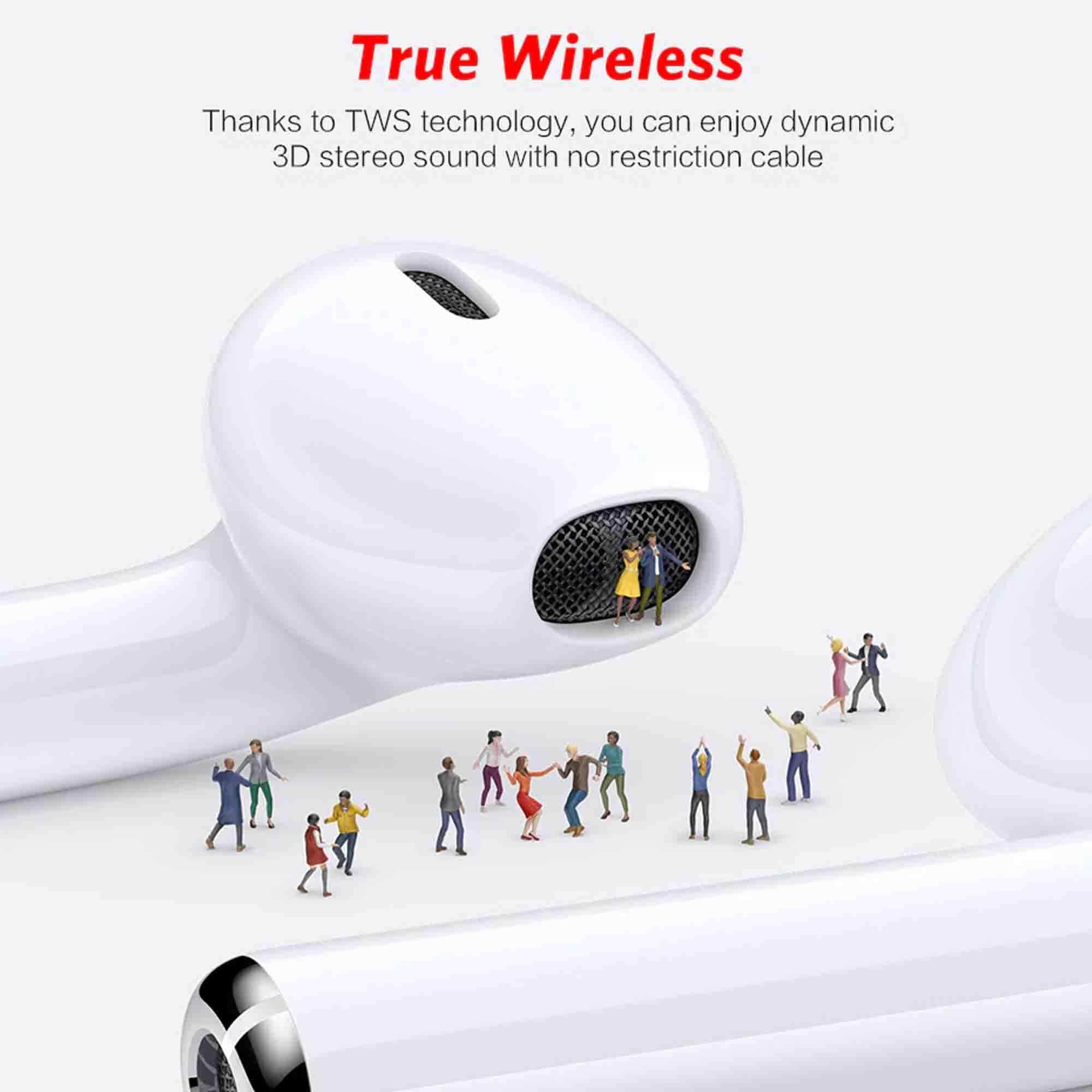 i9s TWS Wireless Mini Bluetooth Earbuds Wireless Headsets earphones  bluetooth earphone ear pods For iphone Andorid - White