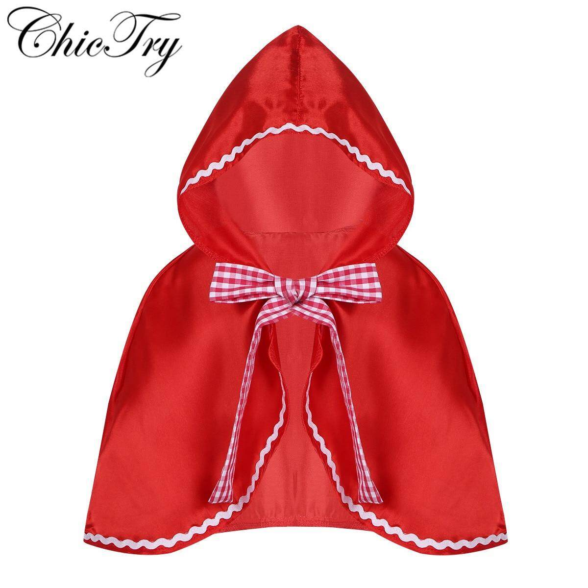 Little Red Riding Hood Costume Cape Dress Up Halloween Cloak