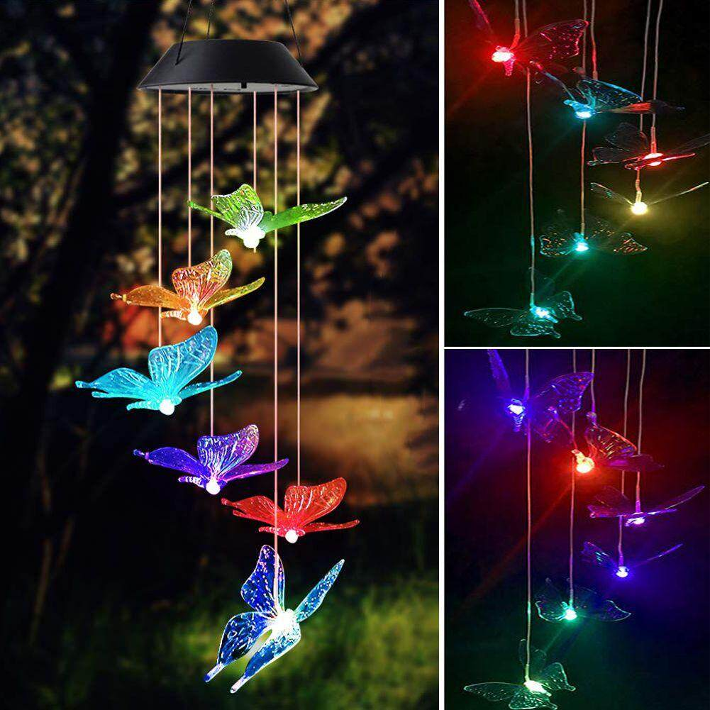 Solar Powered Color-Changing Led Butterfly Wind Chimes Multi Solar Powered  Mobile Waterproof Automatic Light Sensor Outdoor Decor (Butterfly) | Lazada