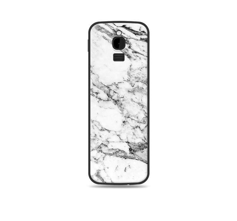 Dành cho Nokia 8110 4G Mạ Gỗ Nắp Hoa Văn 2 4 Inch Rock In Cao Su Mềm Ốp Lưng