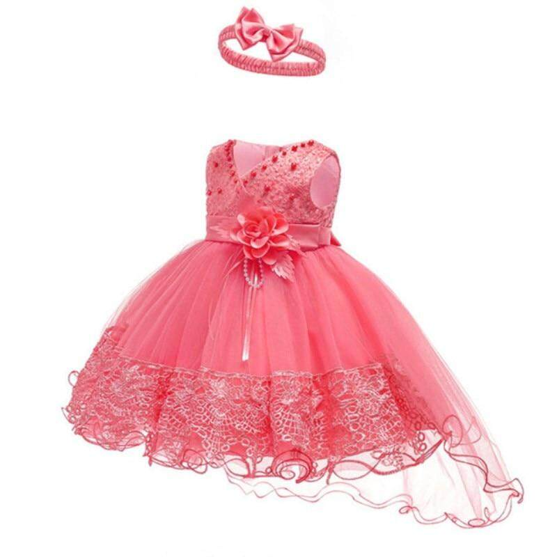 f9a146ce64c02 Baby Girl Dress Flower Christening Gown Baby Girls 1st Years Birthday  Vestido Lace Trailing Little Baby Tutu Dress