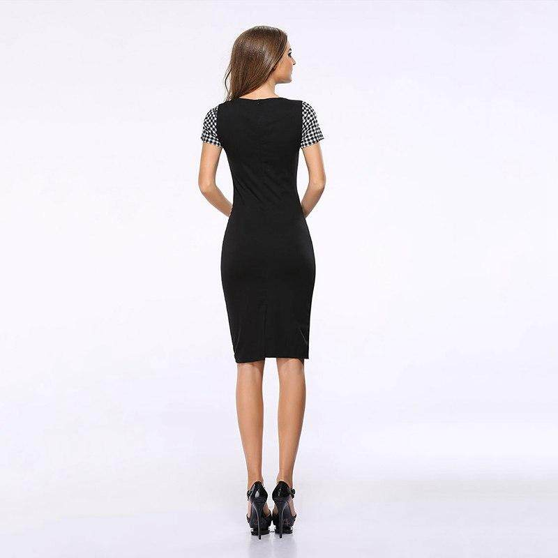 5132684bf222 Specifications of Lyprerazy Women Vintage Wear to Work Elegant vestidos  Business Party Bodycon Sheath Office Female Dress Grid Style