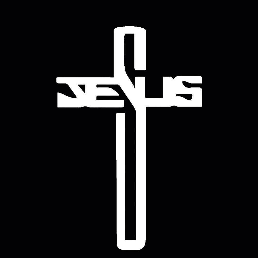 Waterproof Car Vehicle Body Window Stickers Cross Of Jesus Styling Decal