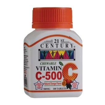 Harga 21ST CENTURY Chewable Vitamin C 500mg 100 tablets