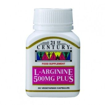 21ST CENTURY L-Arginine 500mg Plus 30 capsules