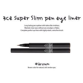 [3CE] SUPER SLIM PEN EYE LINER BROWN 0.9ml