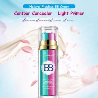 Harga Bioaqua 2 In 1 Base Makeup BB Cream Primer Foundation Flawless Make Up(NATURAL)