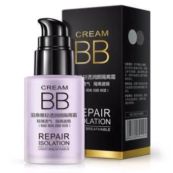 Bioaqua Light Breathable Repair Isolation BB Cream_Moisturizing Oil Control Concealer Foundation Primer Nude Makeup (Soft Purple)