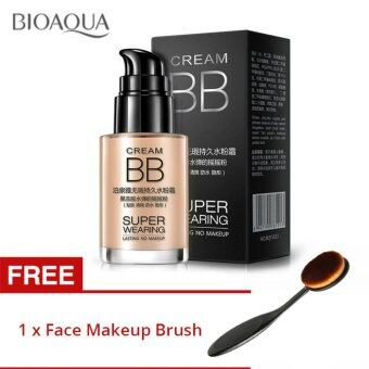 BIOAQUA Super Wearing Persistent BB Cream Long Lasting MoisturizingLiquid Foundation * FREE Makeup Brush