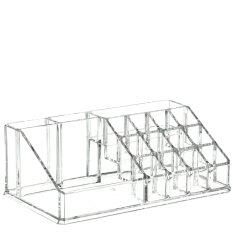 clear acrylic cosmetic makeup storage organizer box lipstick stand holder display rack make up brush eyeshadow nail varnish polish case container