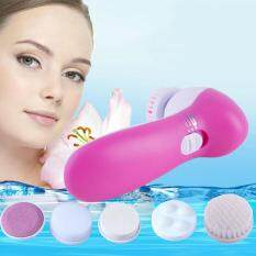 Deep Clean 5 In 1 Electric Facial Cleaner Face Skin Care Brush Massager Scrubber