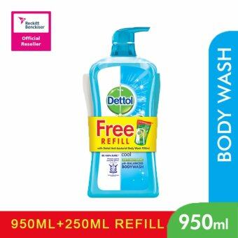 Harga DETTOL SHOWER GEL 950ML+250ML COOL