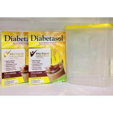Diabetasol Chocolate Flavour 180g x 2 box (For Diabetic) - FREE 1 FOOD CONTAINER
