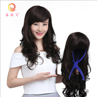 Equipment feather fly female realistic oblique bangs long hair