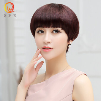 Equipment feather fly Sha Xuanzhen hair wig female mushroom head wig Sets