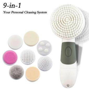 GENUINE JOYROOM 9 In 1 Electric Wash Face Machine Cleaning Massage Mini Skin Brush Massager Facial Pore Cleaner Brush Spa Beauty