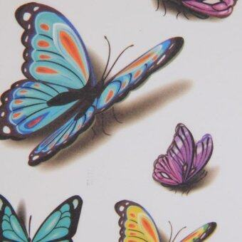 Hang-Qiao Butterfly Stickers Temporary Arm Waterproof Tattoos Fake3D Tatoo Body Art (Intl)