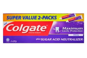 Harga Colgate Sugar Acid Neutraliser Whitening Value Twin PackToothpaste225g x 2