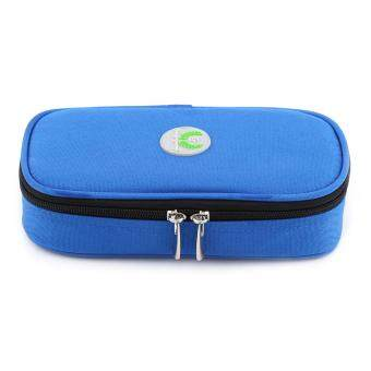 Harga Portable Diabetic Carrying Case Insulin Cooler Bag Holder Health Care Case (Blue)