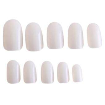 Harga LALANG 600Pcs Nail Art Fake Full Cover Artificial Nail Tips Acrylic Gel False Nails (Natural)