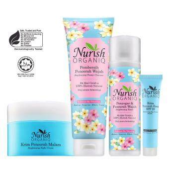 Harga Halal & Organic Whitening : Nurish Organiq [Official] Brightening Night Set II 220ml with FREE Nurish Organiq Brightening Day Cream