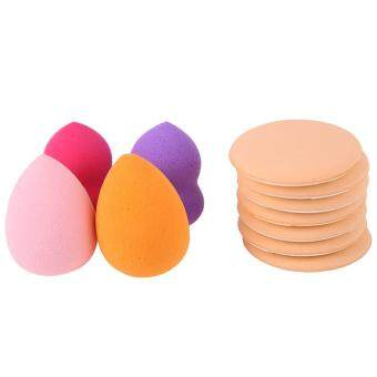 Harga 7pcs Air Cushion Puff BB Cream Applicator + 4pcs Powder Foundation Sponge (Random Color)
