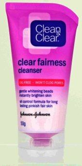 Harga CLEAN/CLEAR FAIRNESS CLEANSER 50GM