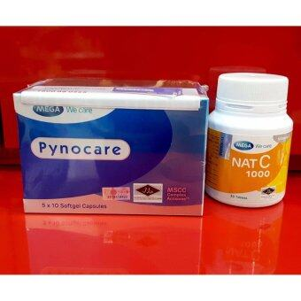 Harga Pynocare 50's + Nat C 1000mg 30's (Skin Whitening and Depigmentation)