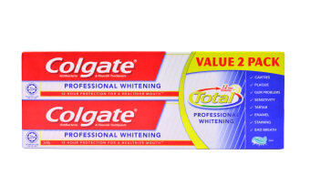 Harga Colgate Total® Professional Whitening Value Twin PackToothpaste150g x 2