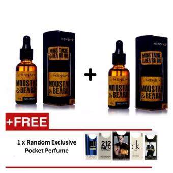 Harga 2 x Original Mensive Moustache & Beard Oil (MBO) Serum 30ml