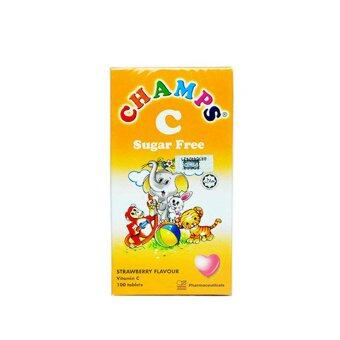 Harga CHAMPS C 100mg Strawberry 100s