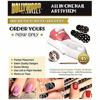 Harga Hollywood Nails All in One Professional Nail Art System Kit Set