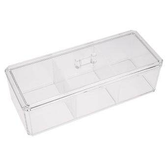 Harga Transparent 3 Grid Jewelry Box Drawer / Crystal Cosmetics Boxes