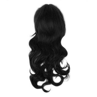 Harga Allwin Fashionable Full Lace Human Hair Wigs Women Front Wig Natural Lace Curl Hair black