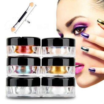 Harga 12Pcs Mix Set Nail Art Glitter Powder Dust For Magic Mirror Acrylic Tips
