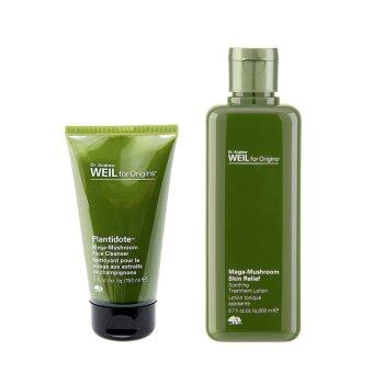 Harga Origins Plantidote Mega-Mushroom Face Cleanser + Plantidote Mega-Mushroom Treatment Lotion (1 set, 2 pcs)