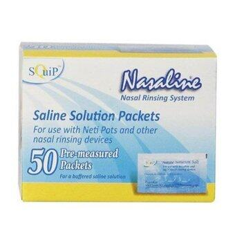 Harga Squip USA Nasaline® Saline Solution Salt (Box of 50 Saline Packets) (For use with Neti and other nasal rinsing devices) (Official Distributor)