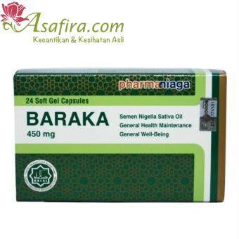 Harga Pharmaniaga Baraka Black Seed 24 Softgels - 2 Units